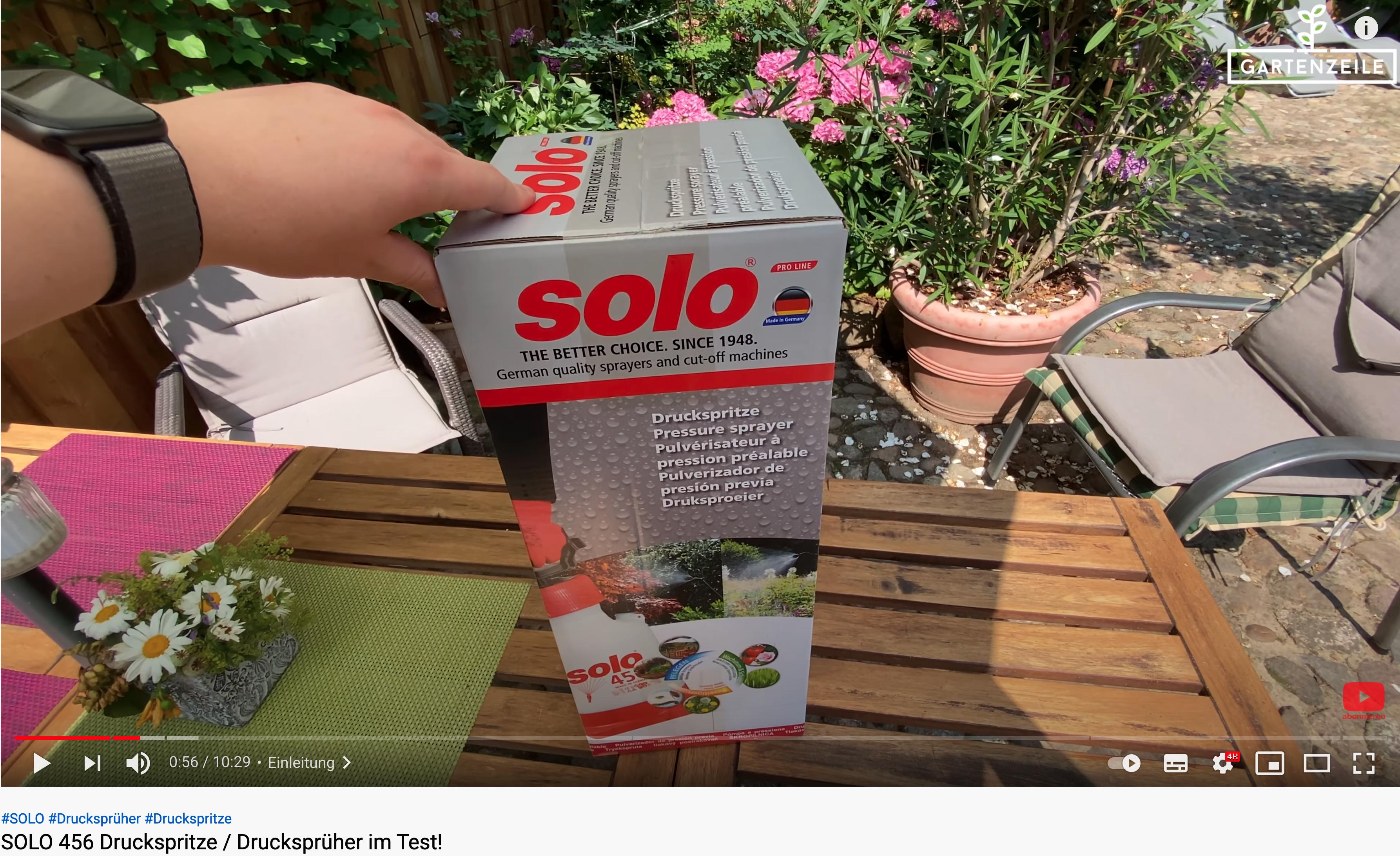 Unboxing SOLO 456 Drucksprüher